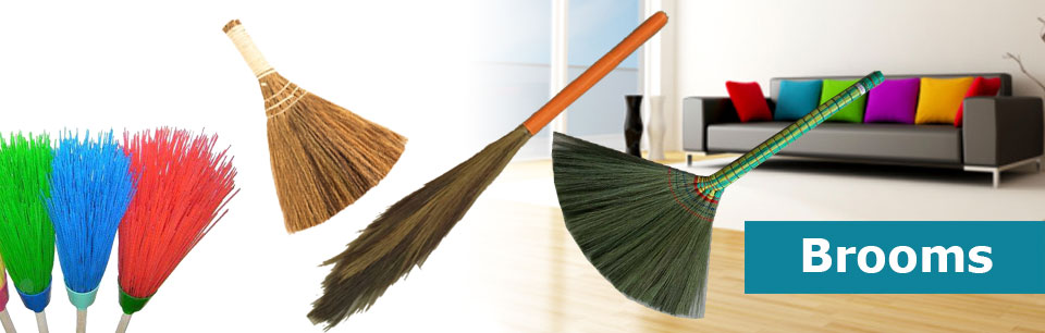Different kind of Grass Brooms